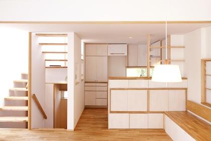 造り付けの家具